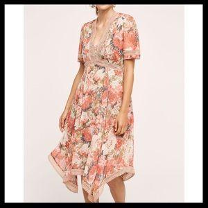 Anthro Ranna Gill Rose Bouquet Dress